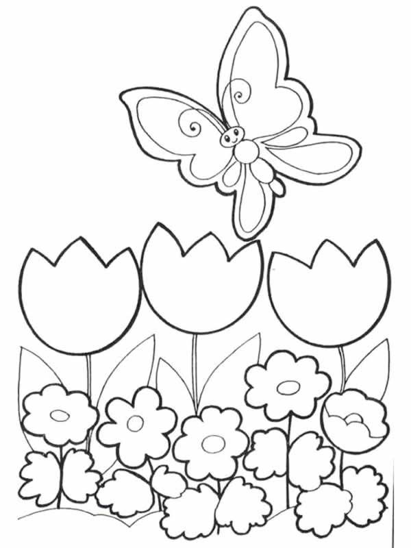 33 Dibujos De Jardines Para Colorear Oh Kids Page 4