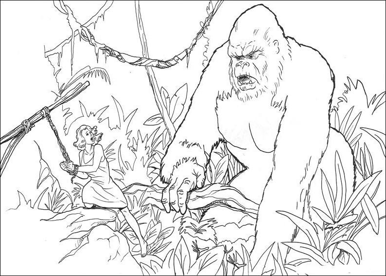 28 dibujos de king kong para colorear oh kids page 3 - Gorille coloriage ...