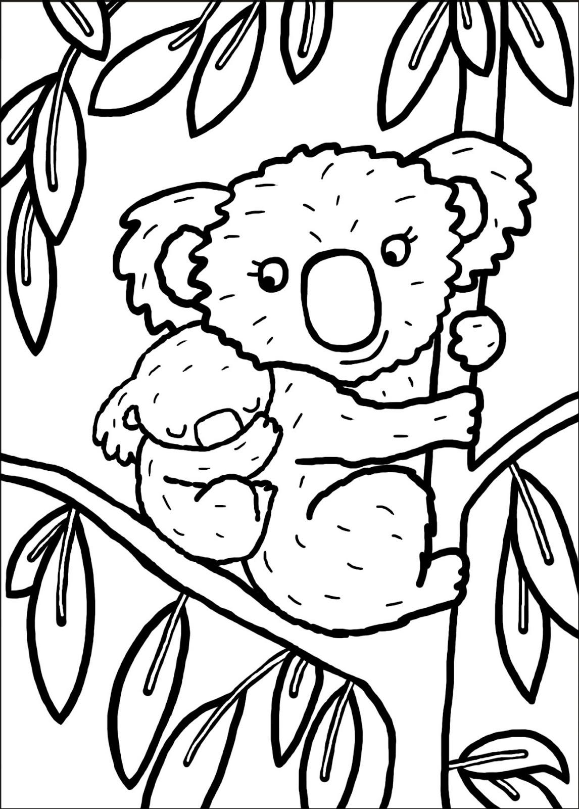 77 Dibujos De Koalas Para Colorear Oh Kids Page 4