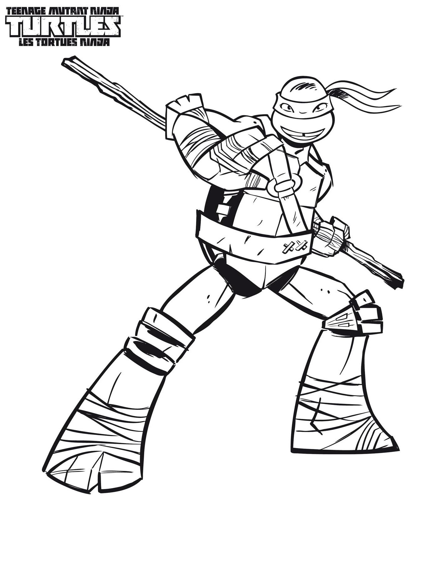 Dibujo Tortugas Ninja Para Colorear Canonsx 210