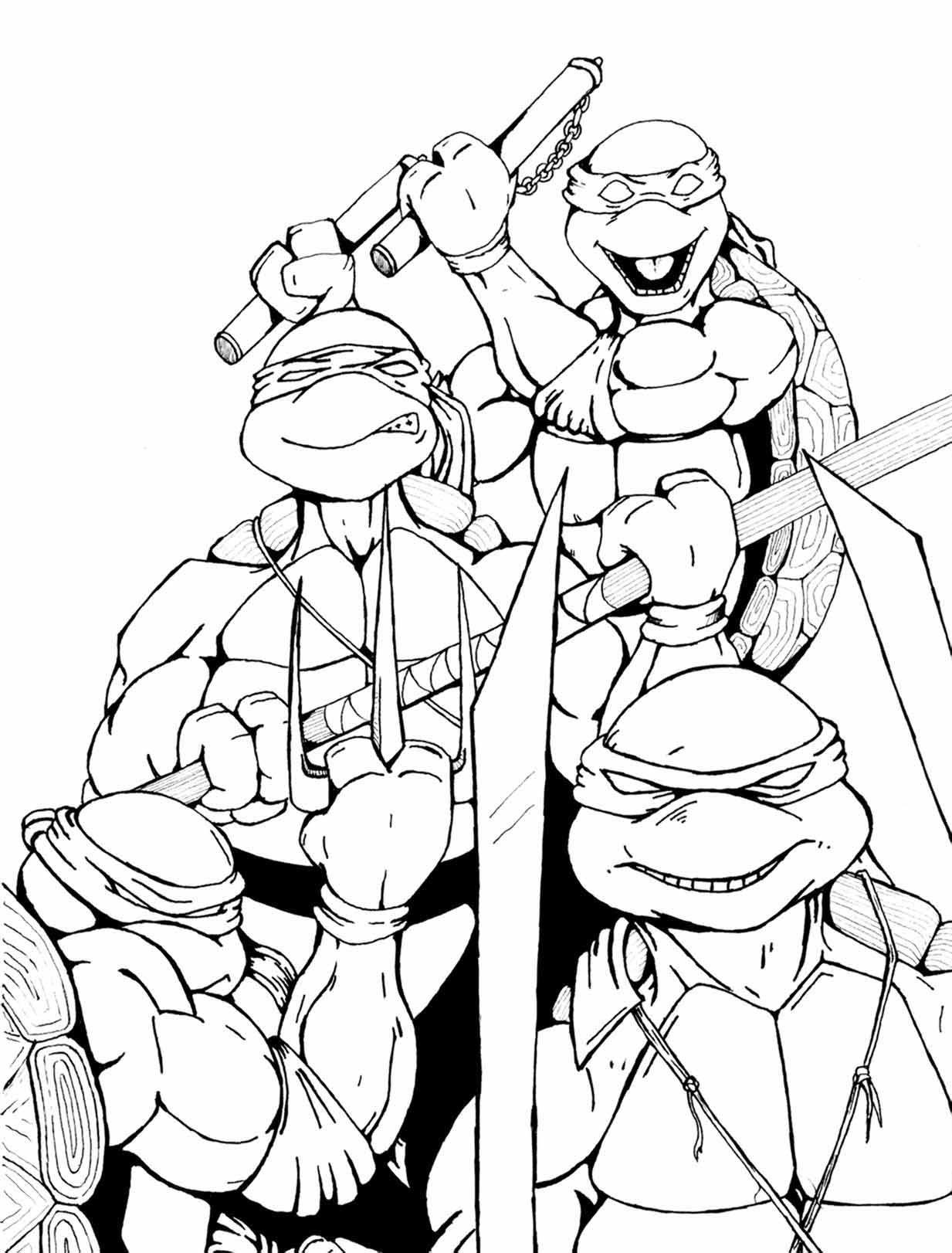 106 dibujos de Las tortugas ninja