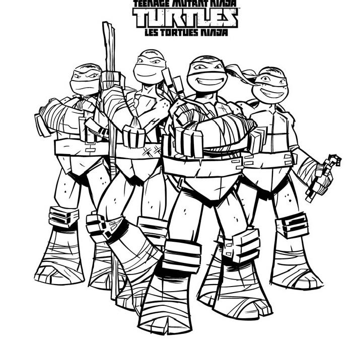 106 dibujos de Las tortugas ninja para colorear | Oh Kids | Page 6