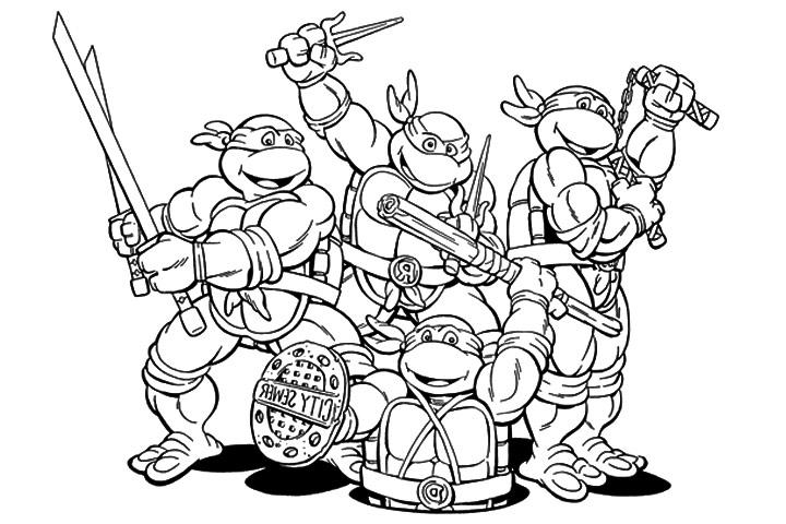 para colorear - ninja turtles