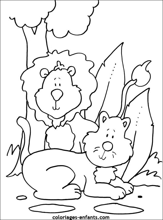 Coloriage Un Lionceau Imprimer Lionceau Dessin Marnfozine Com