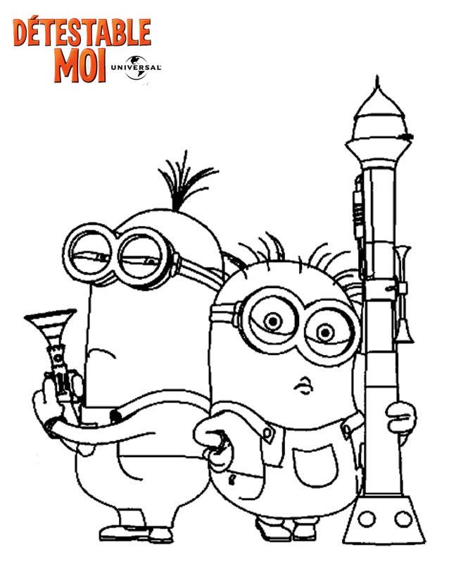 100 dibujos de Minions para colorear  Oh Kids  Page 1