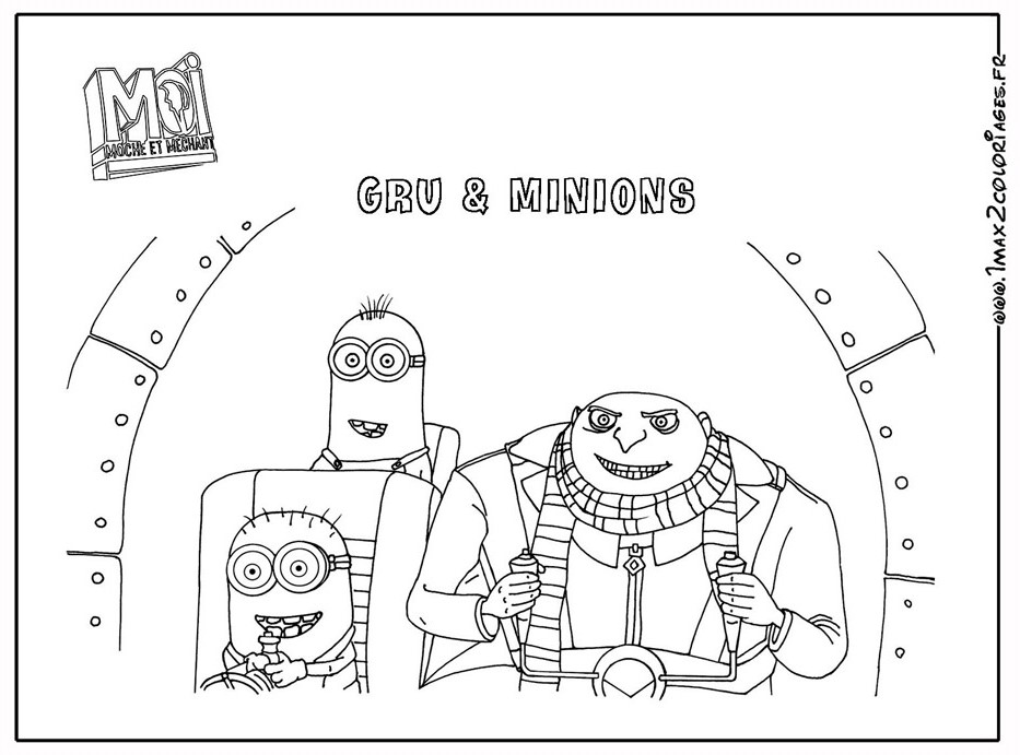100 dibujos de Minions para colorear | Oh Kids | Page 2