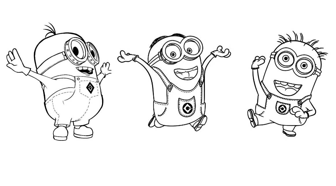 100 dibujos de minions para colorear oh kids page 3 - Minion a imprimer ...