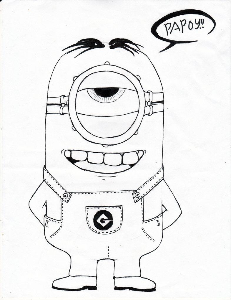 100 dibujos de Minions para colorear | Oh Kids | Page 6