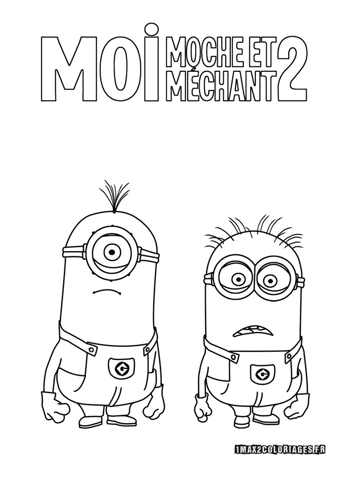 100 dibujos de Minions para colorear  Oh Kids  Page 7