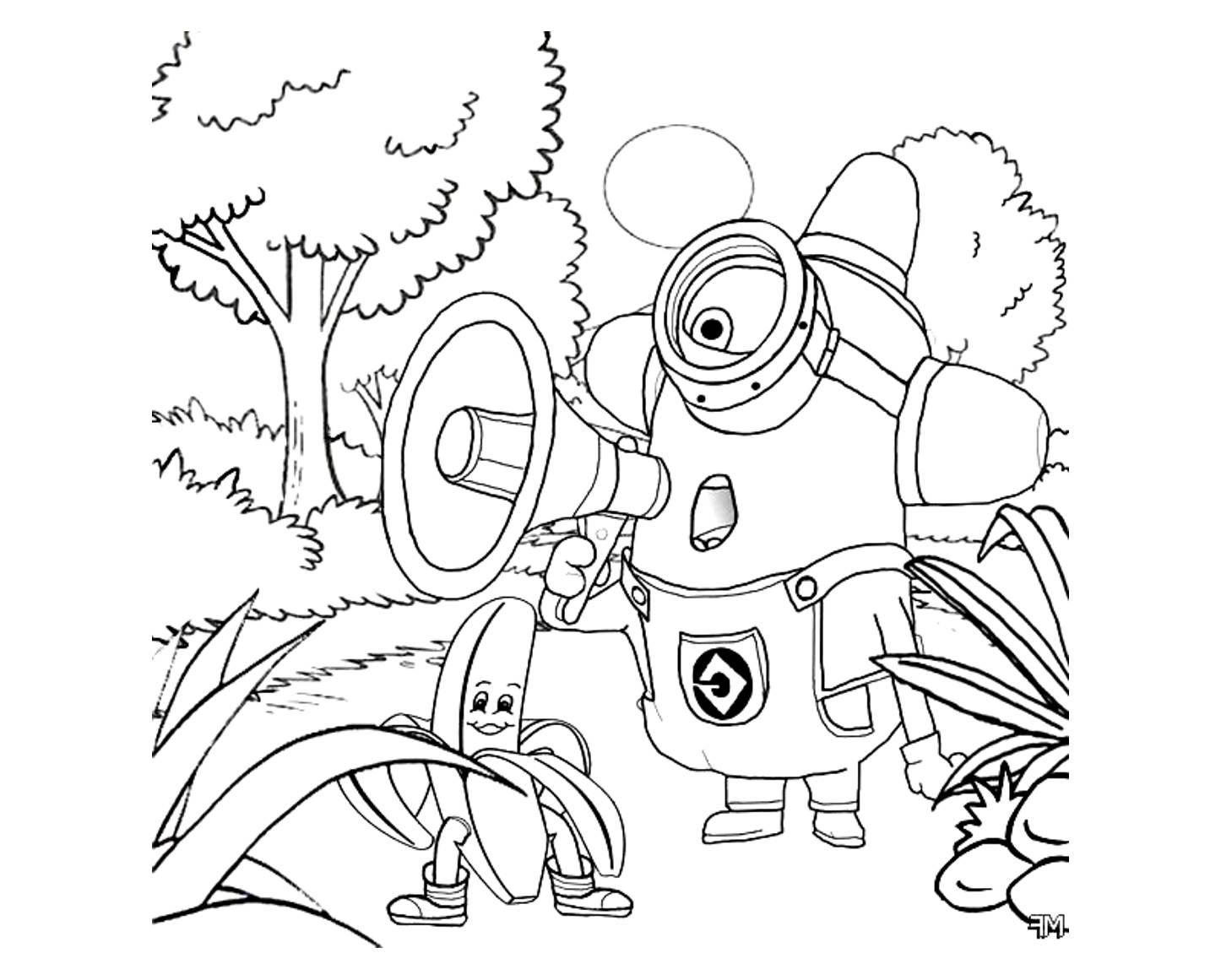 Dibujos Para Colorear De Los Minions Para Imprimir: 100 Dibujos De Minions Para Colorear
