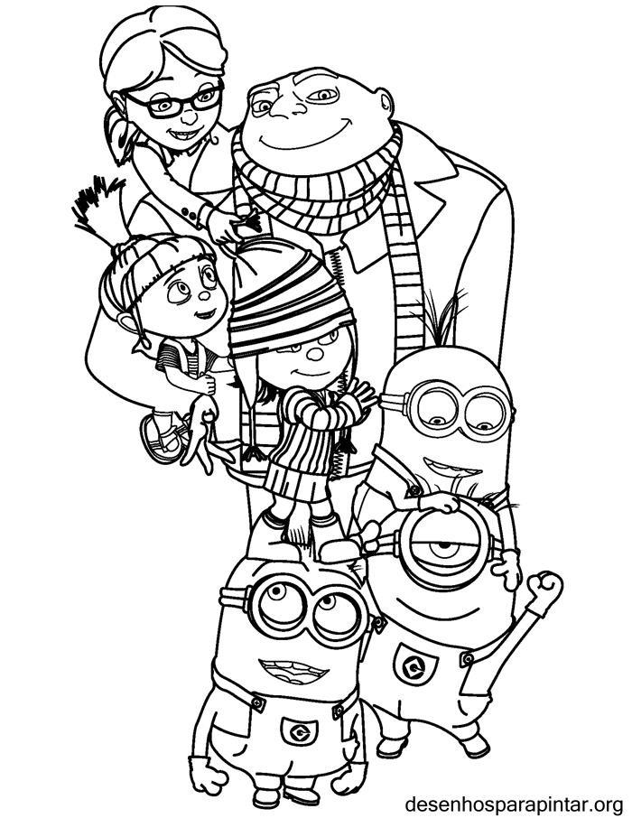 100 dibujos de Minions para colorear | Oh Kids | Page 9