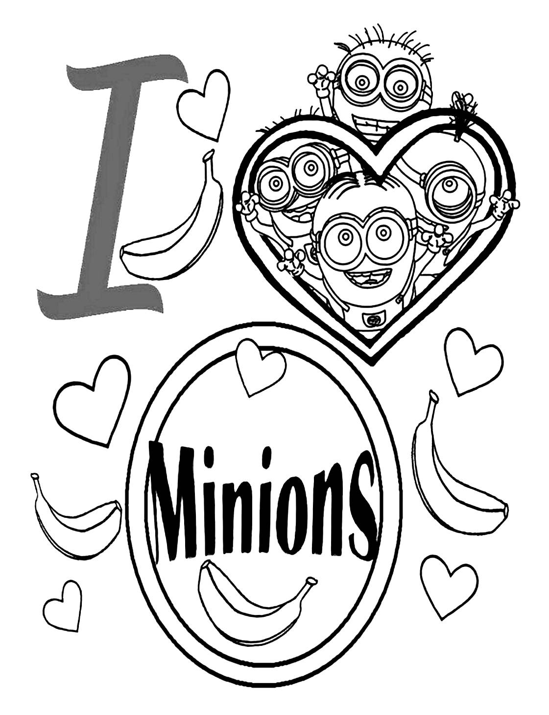100 dibujos de Minions para colorear  Oh Kids  Page 9