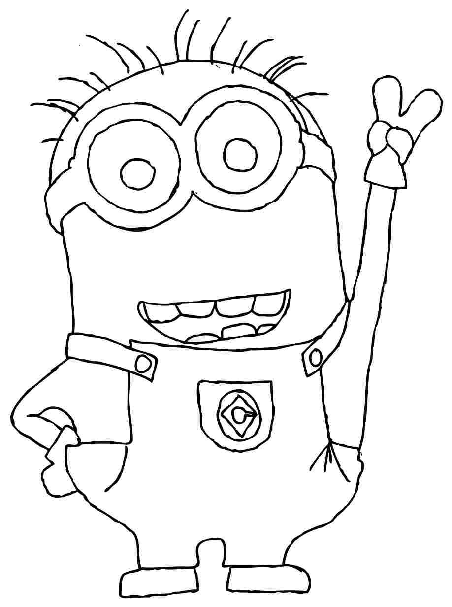 100 dibujos de Minions para colorear | Oh Kids | Page 10