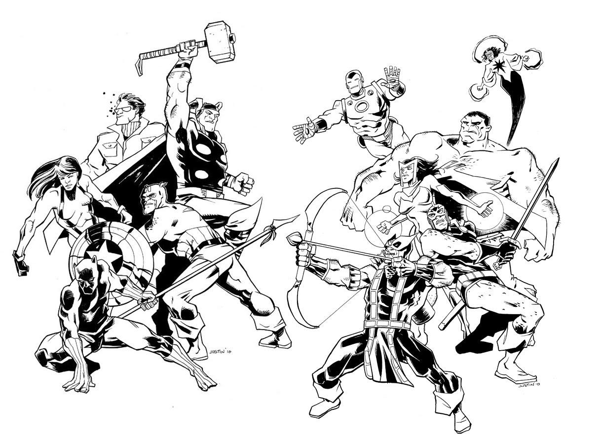 160 dibujos de los vengadores para colorear oh kids page 3 - Super hero coloriage ...