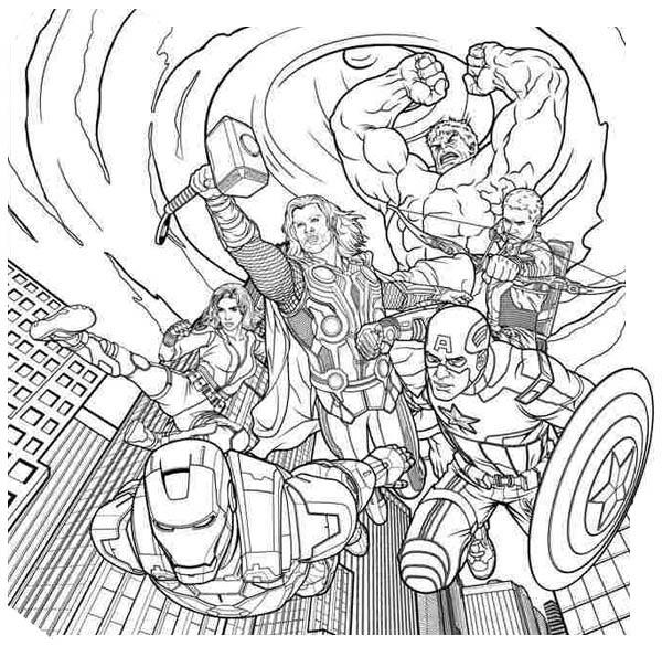 160 dibujos de Los vengadores para colorear | Oh Kids | Page 10