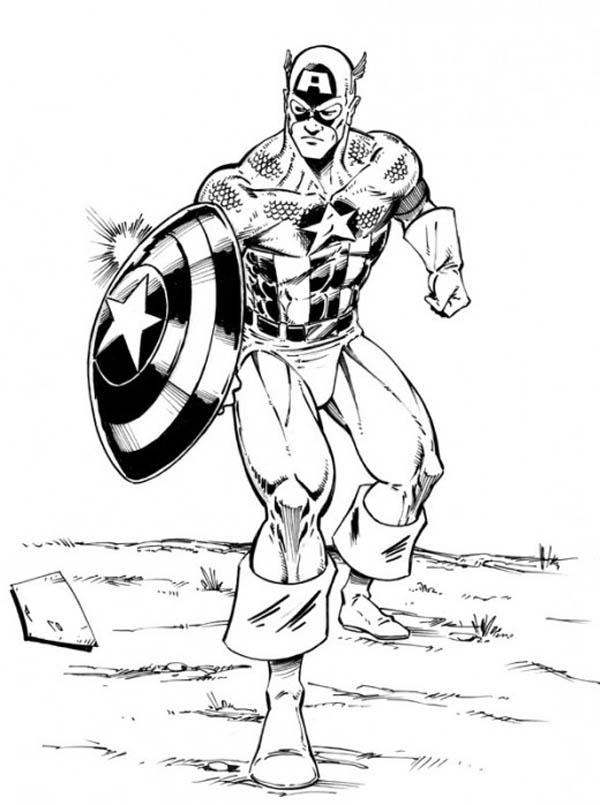 160 dibujos de los vengadores para colorear oh kids - Dessin captain america ...