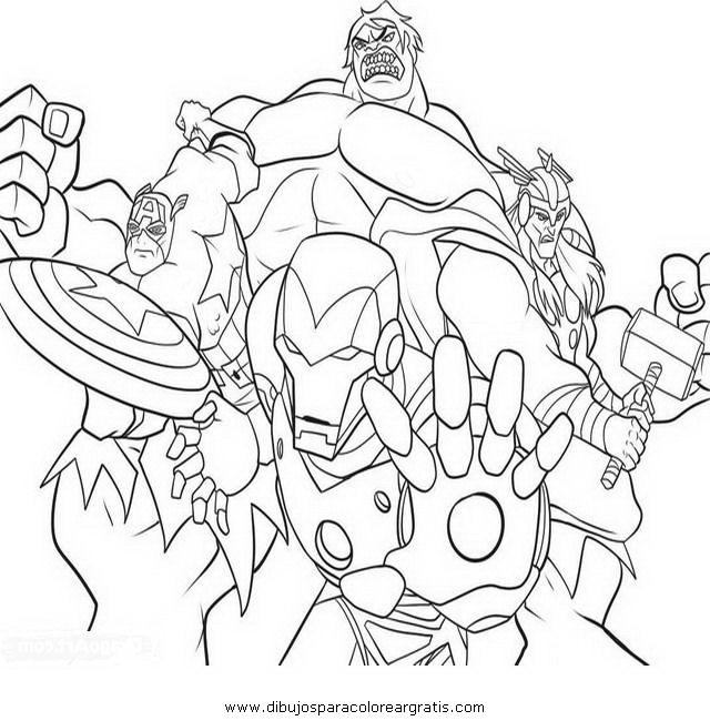 160 dibujos de Los vengadores para colorear | Oh Kids | Page 12