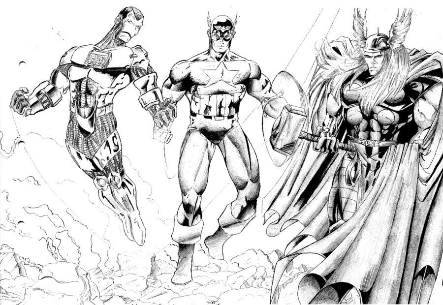 160 Dibujos De Los Vengadores Para Colorear