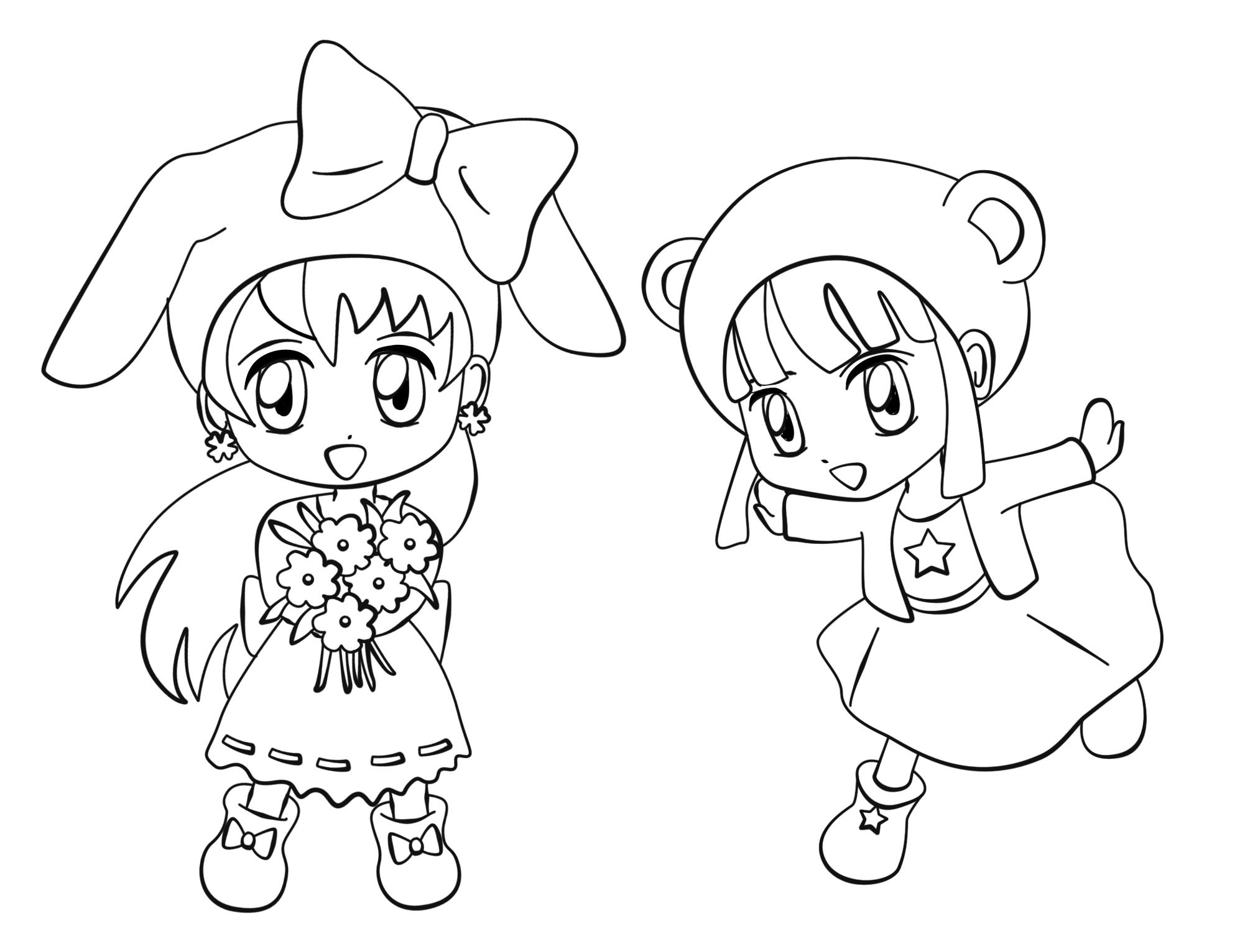 84 dibujos de Manga para colorear | Oh Kids | Page 2