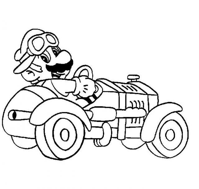 22 dibujos de Mario kart para colorear | Oh Kids | Page 1