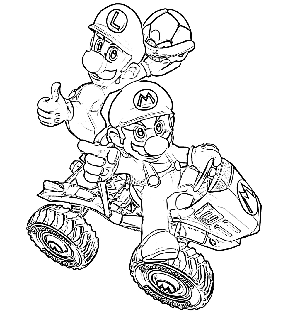 22 dibujos de Mario kart para colorear | Oh Kids | Page 2