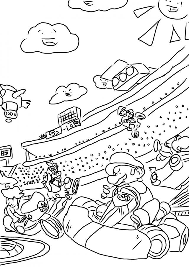22 dibujos de Mario kart para colorear | Oh Kids | Page 3