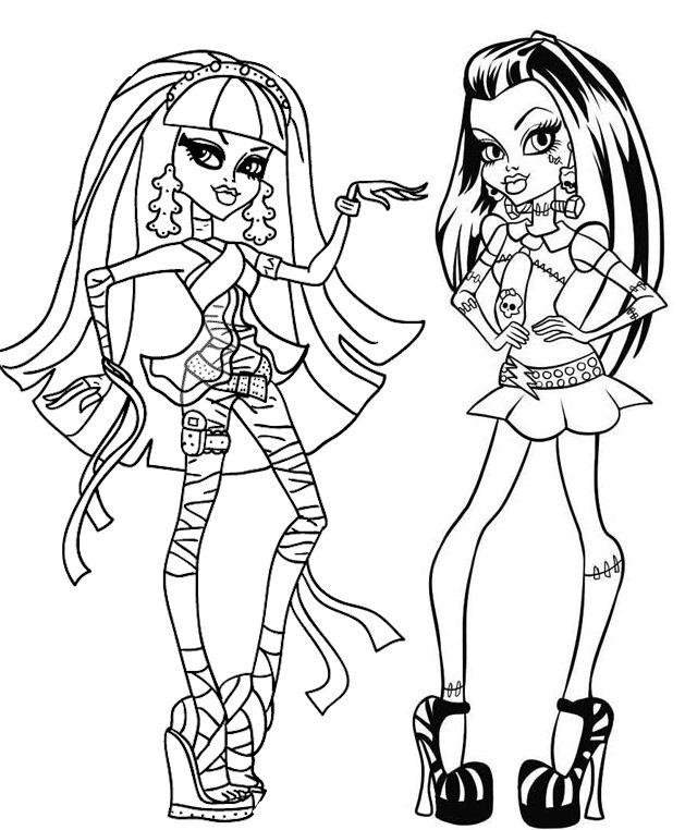 Dibujos #18910 : dibujo monster high para colorear