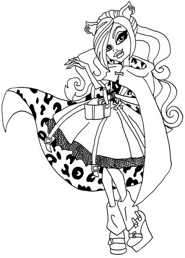Dibujos #18911 : dibujo monster high para colorear