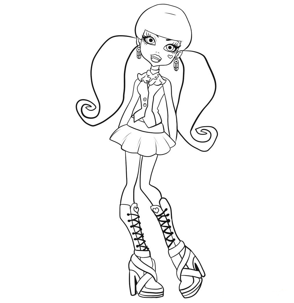 Dibujos #18912 : dibujo monster high para colorear