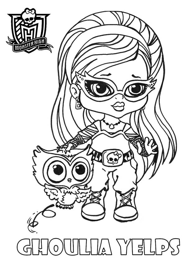 Dibujos #18914 : dibujo monster high para colorear