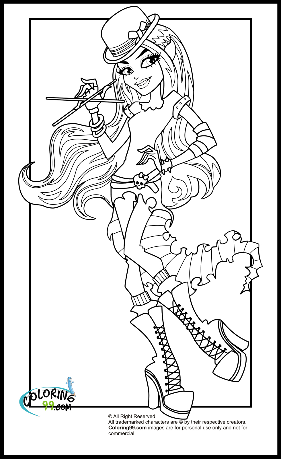 Dibujos #18915 : dibujo monster high para colorear