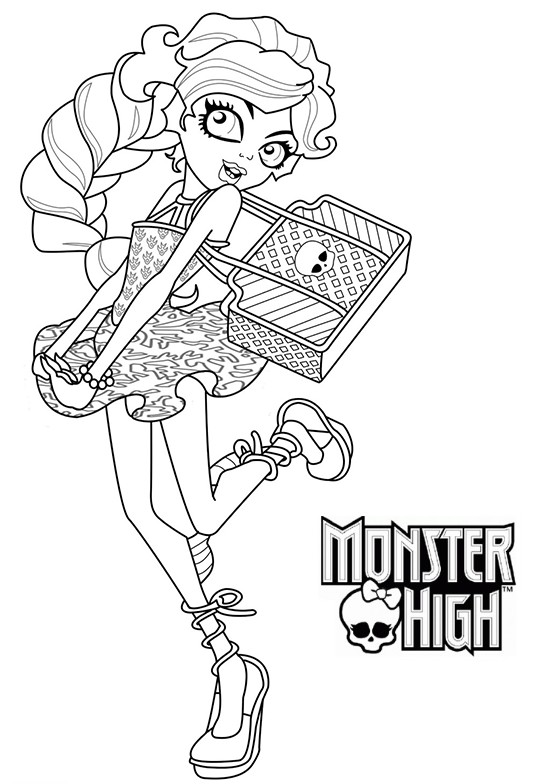 Dibujos #18917 : dibujo monster high para colorear