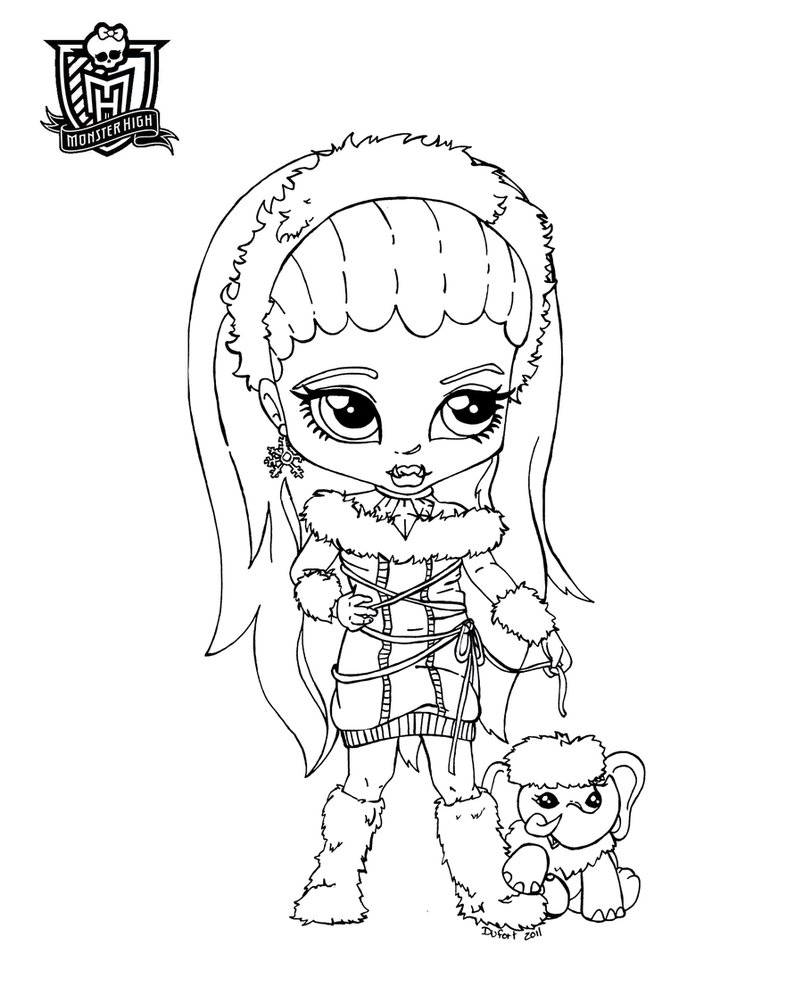 154 Dibujos De Monster High Para Colorear Oh Kids Page 7