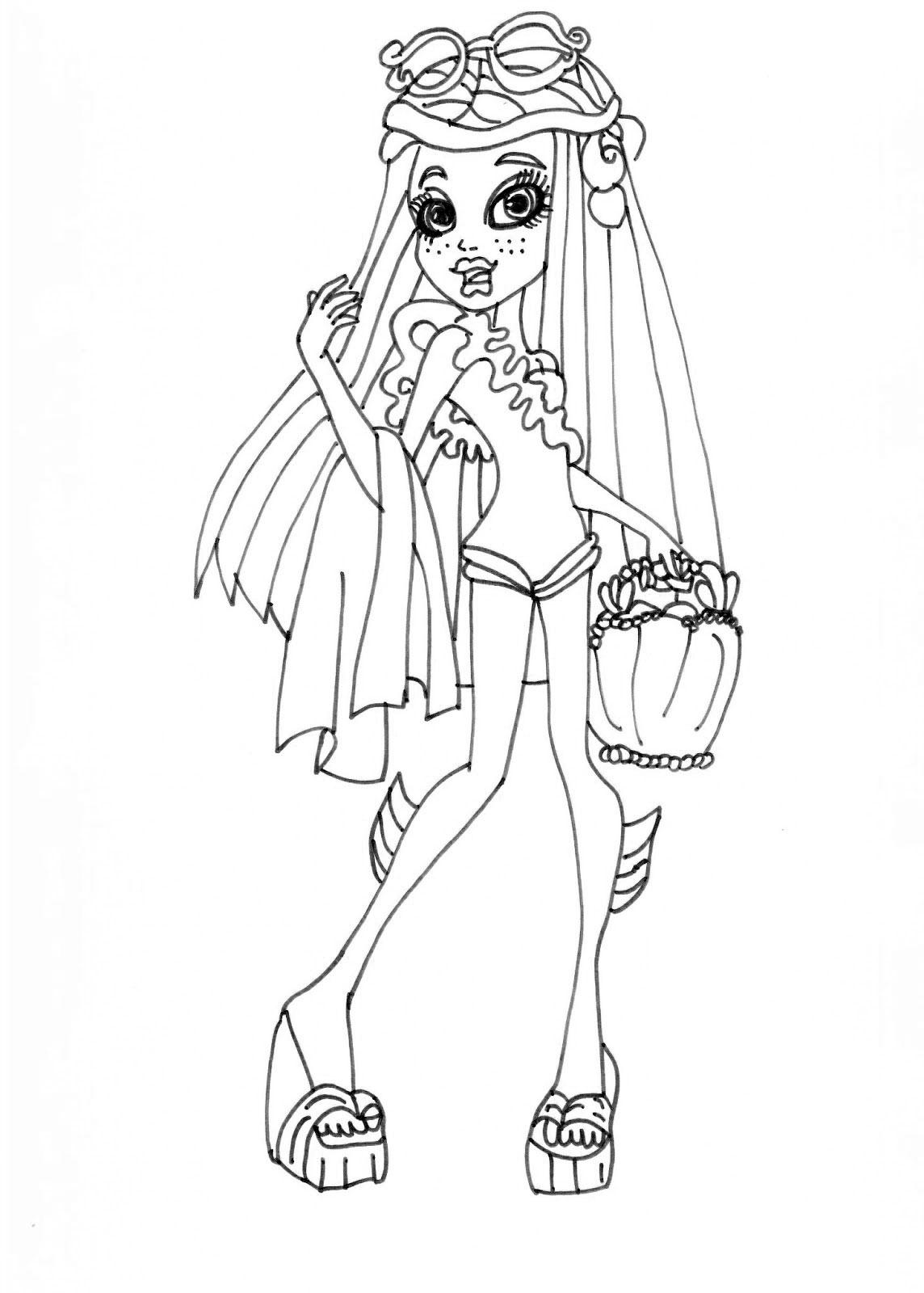 154 dibujos de Monster high para colorear | Oh Kids | Page 17