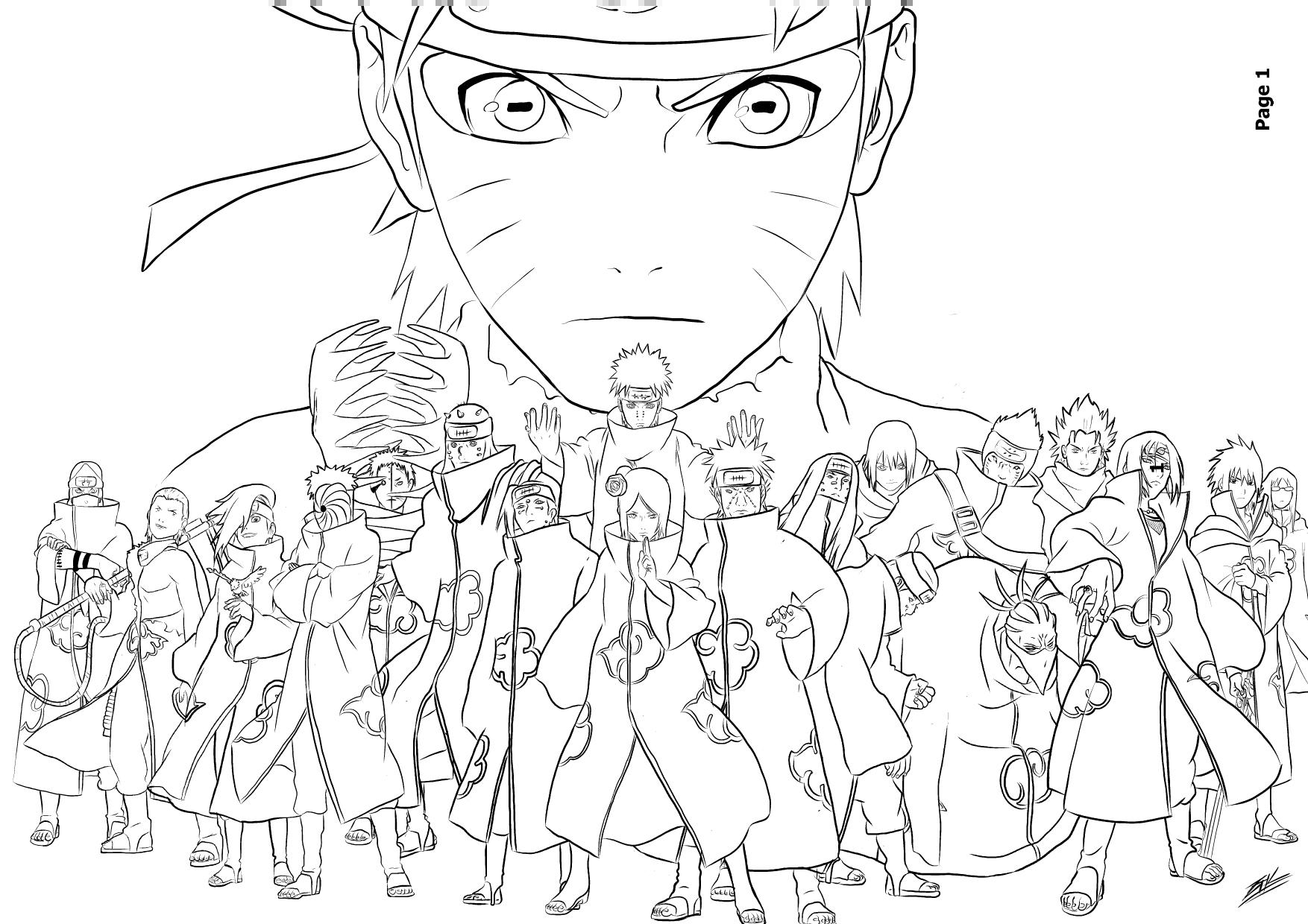 Imagenes Con O Para Colorear: 133 Dibujos De Naruto Para Colorear