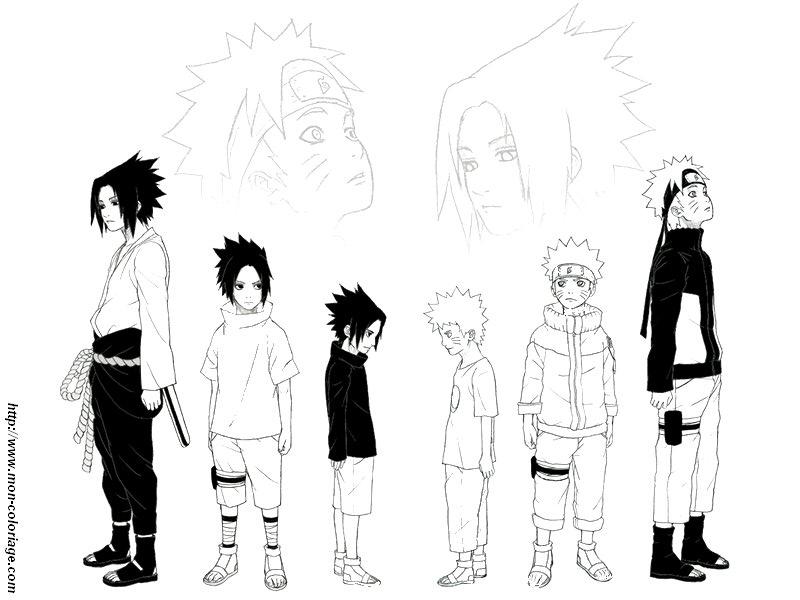 133 dibujos de Naruto para colorear  Oh Kids  Page 7