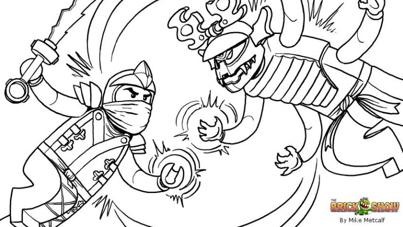 70 dibujos de Ninjago para colorear | Oh Kids | Page 1
