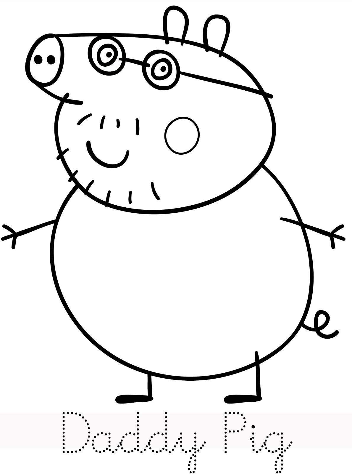 111 dibujos de peppa pig para colorear oh kids page 1 - Dibujos de pared ...