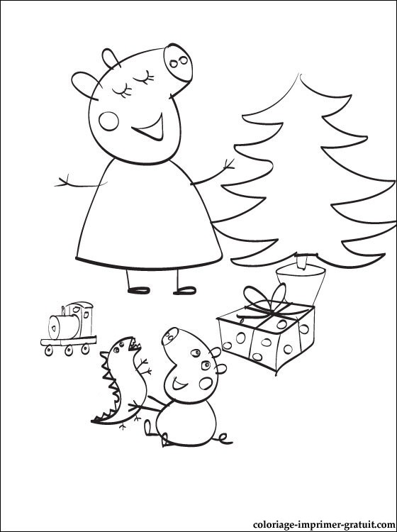111 dibujos de peppa pig para colorear oh kids page 1 - Peppa cochon noel ...
