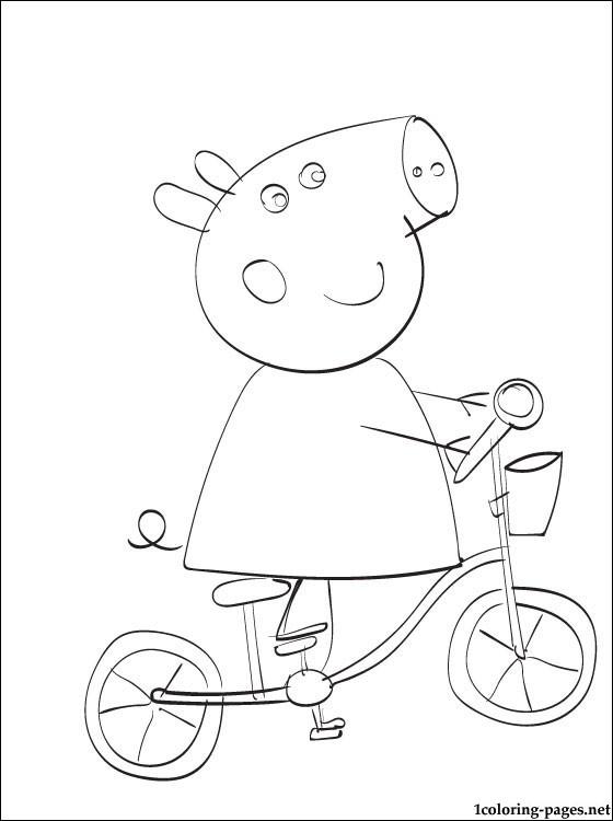 111 dibujos de Peppa pig para colorear   Oh Kids   Page 1