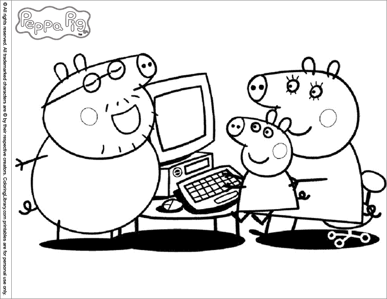 111 Dibujos De Peppa Pig Para Colorear Oh Kids Page 4