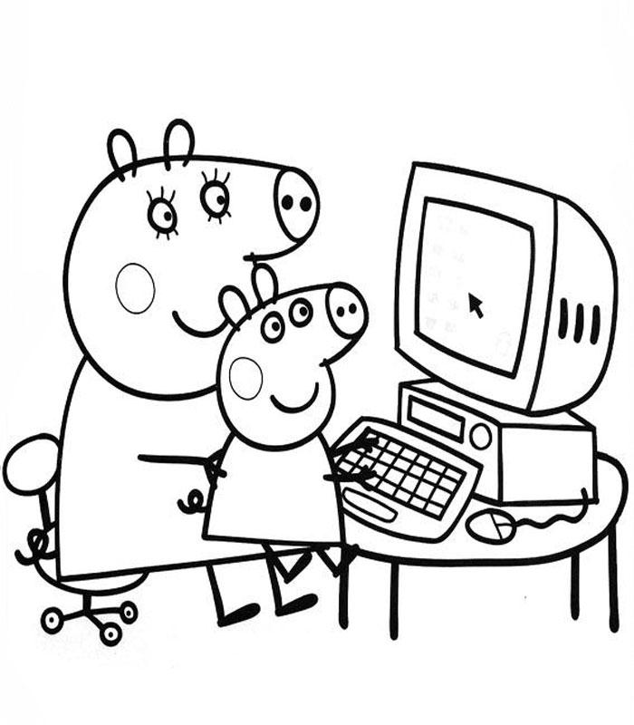 111 dibujos de Peppa pig para colorear | Oh Kids | Page 4