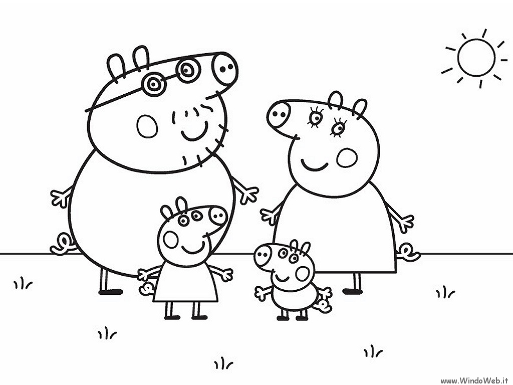 111 Dibujos De Peppa Pig Para Colorear