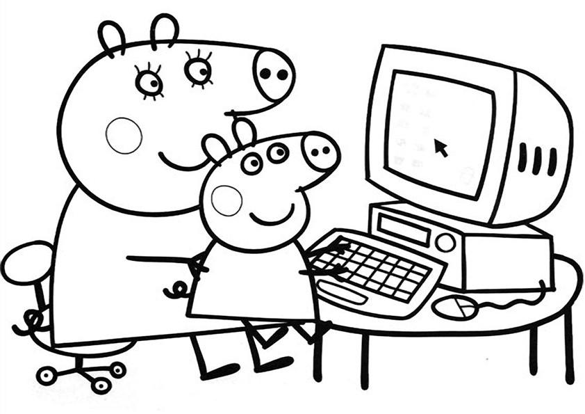 Actividad De Dibujo Peppa Pig Gratis