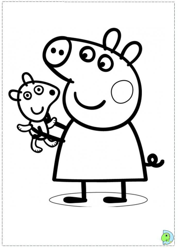 111 dibujos de Peppa pig para colorear | Oh Kids | Page 10
