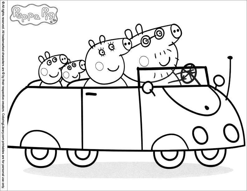111 dibujos de peppa pig para colorear oh kids page 12 - Jeux pour dessiner gratuit ...