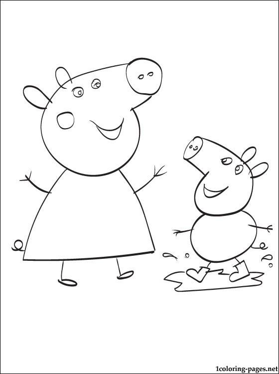111 dibujos de Peppa pig para colorear   Oh Kids   Page 13
