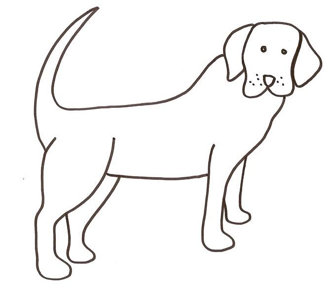 302 dibujos de perros para colorear oh kids page 10 for Cane da disegnare per bambini