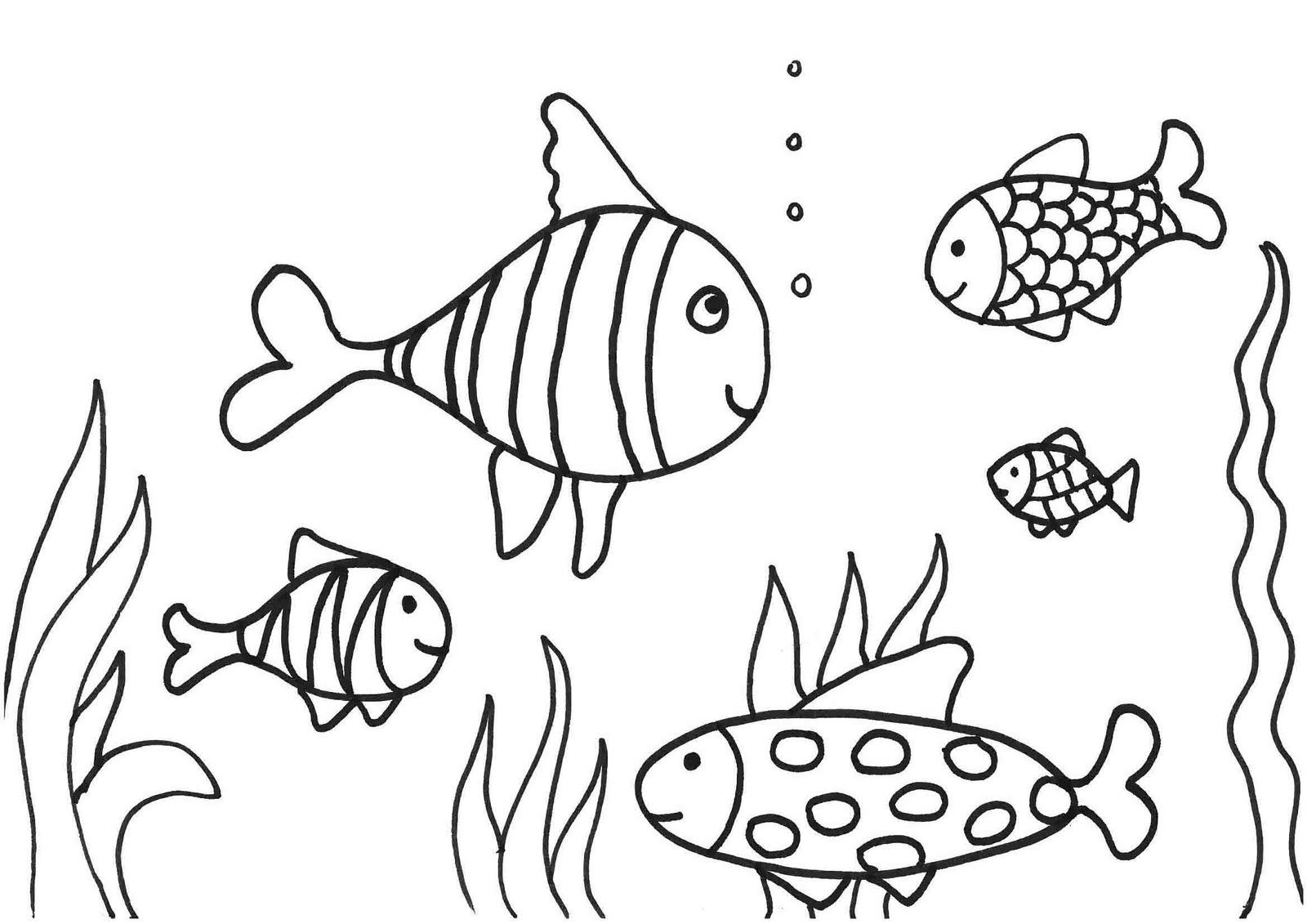 Imagenes Animadas Para Colorear: 106 Dibujos De Pescado Para Colorear