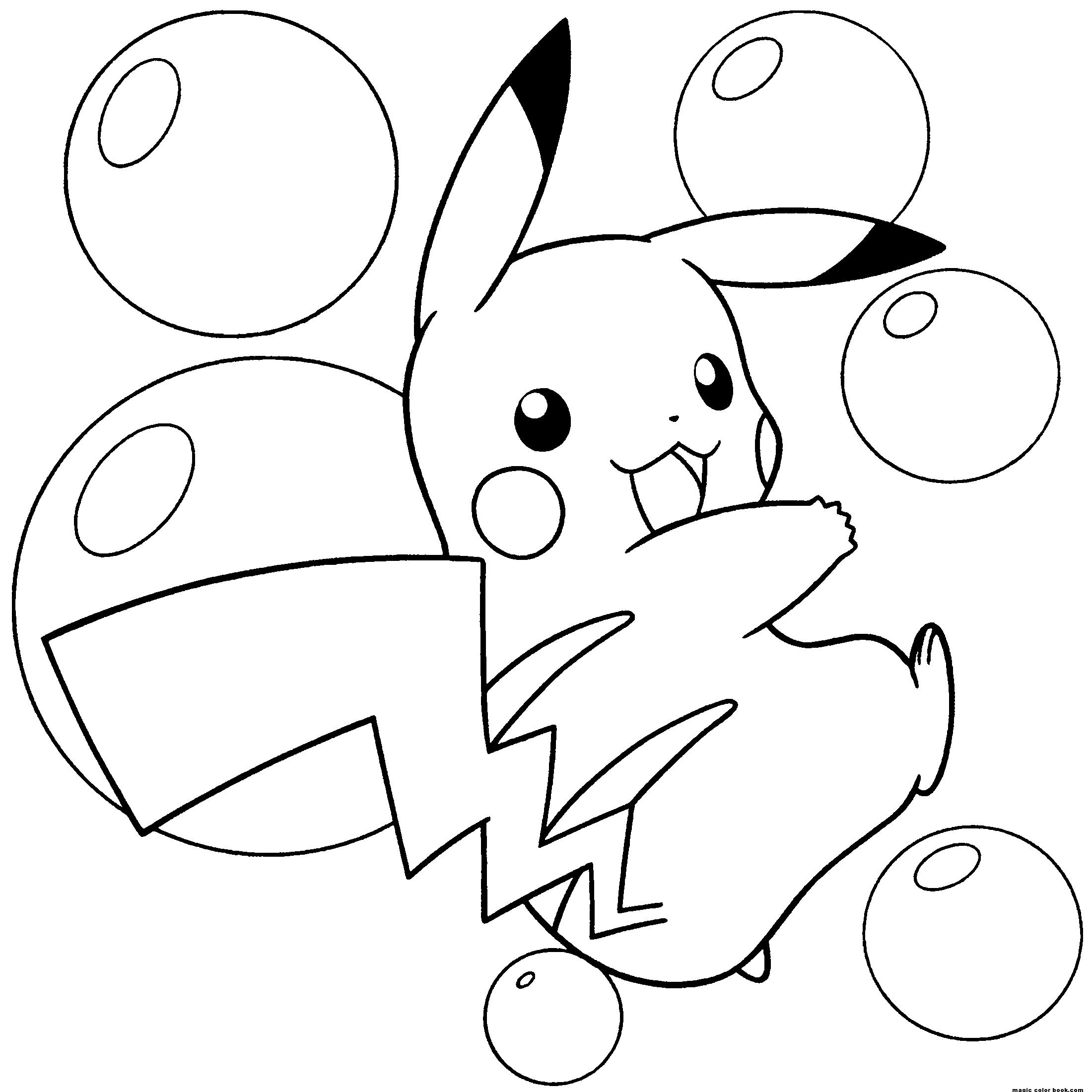 81 Dibujos De Pikachu Para Colorear Oh Kids Page 3
